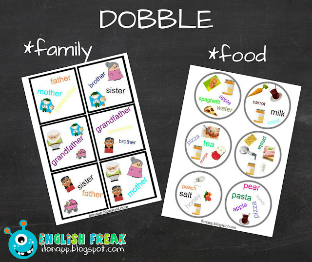 Family dobble and food dobble