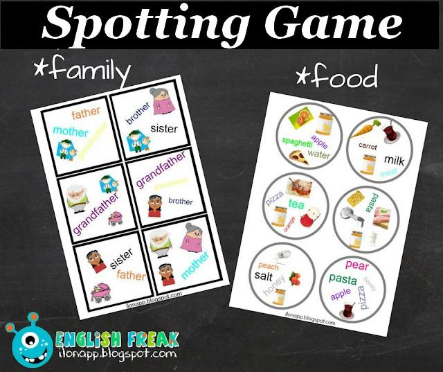 Gra Językowa – Spotting Game (printable)