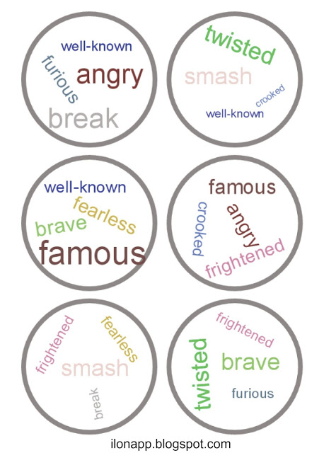 Synonyms dobble, antonyms dobble, homonyms dobble