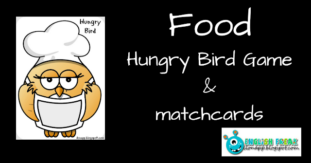 Food Hungry Bird Game Game & matchcards