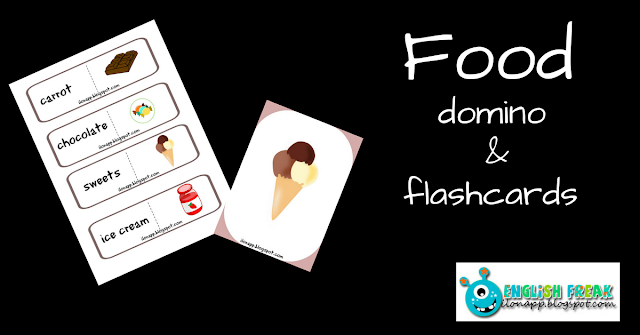 Food domino and flashcards