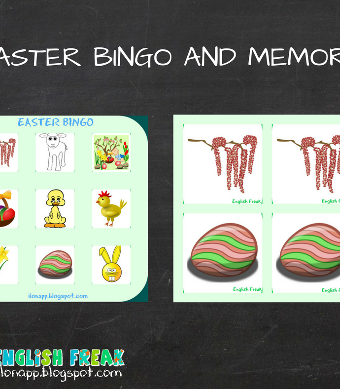 EASTER BINGO AND MEMORY (PRINTABLE)