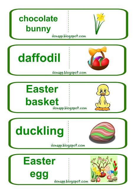 wielkanocne domino angielski Easter Domino