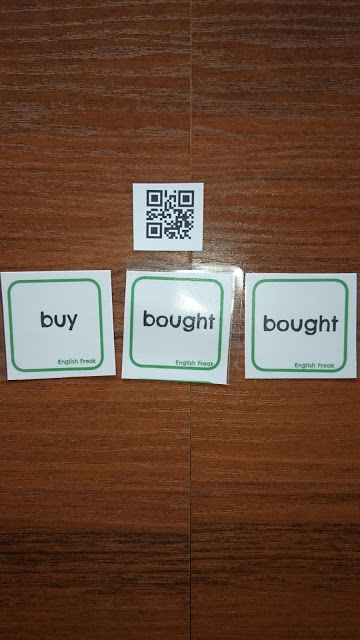 IRREGULAR VERBS QR CODES & MEMORY GAME