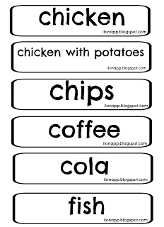 Food Word Cards