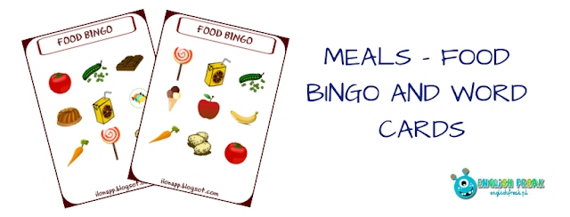 Food Bingo and Word Cards