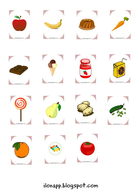 Let's Eat Game - food vocabulary