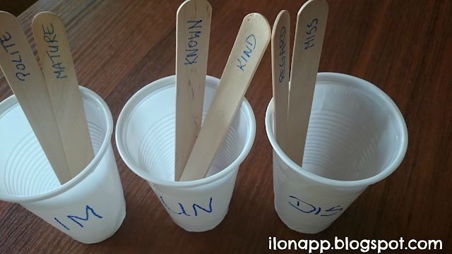 Popsicles / ice cream sticks in teaching