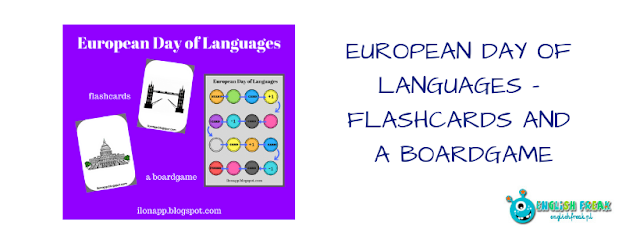 EUROPEAN DAY OF LANGUAGES – FLASHCARDS AND A BOARDGAME
