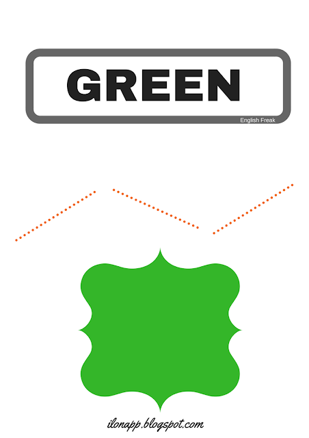 greenCOLOURS: FLASHCARDS, WORD CARDS AND PUZZLES