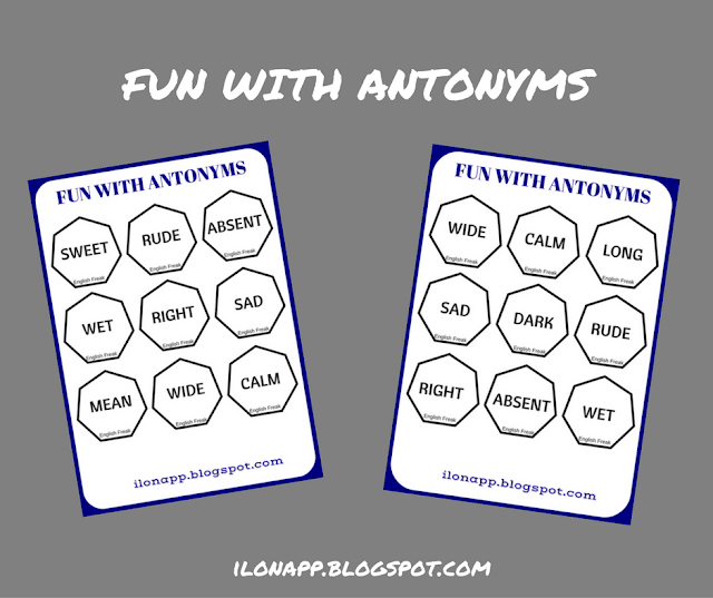 FUN WITH ANTONYMS BINGO & LOTTO