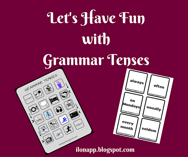 GRAMMAR TENSES BOARD GAME