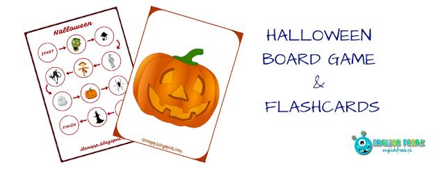 HALLOWEEN BOARD GAME & FLASHCARDS