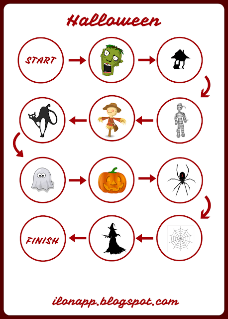 HALLOWEEN BOARD GAME & FLASHCARDS