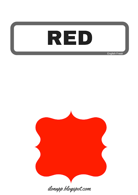 redCOLOURS: FLASHCARDS, WORD CARDS AND PUZZLES