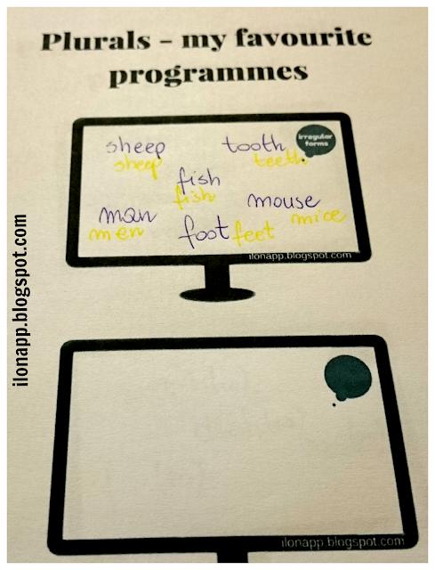 SINGULAR AND PLURAL NOUNS - LICZBA MNOGA RZECZOWNIKÓW : WORD CARDS AND TV PROGRAMMES