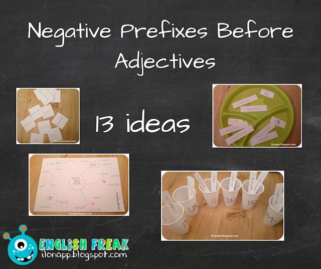 przedrostki negative prefixes