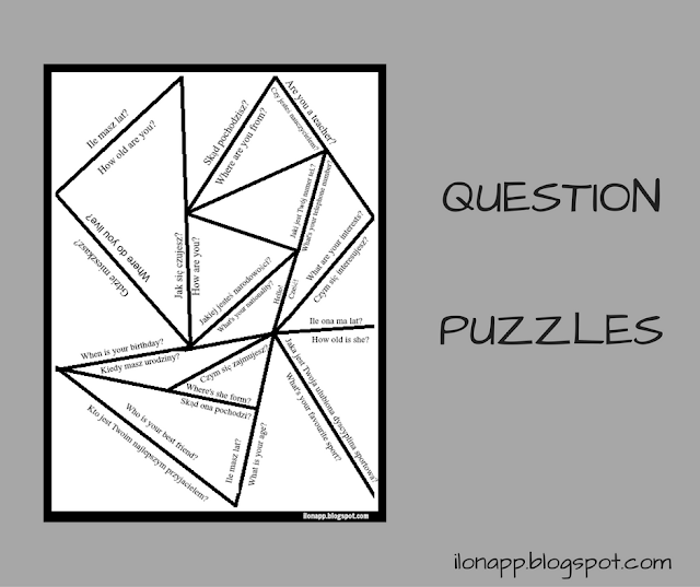 QUESTION PUZZLES - PUZZLE Z PYTANIAMI