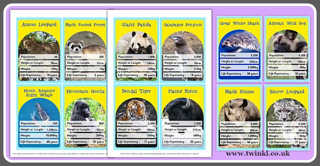 zagrożone gatunki karty