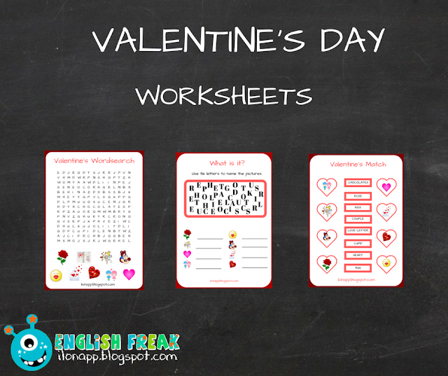 VALENTINE'S DAY – WORKSHEETS (PRINTABLE)