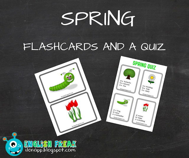 SPRING FLASHCARDS AND A QUIZ CZYLI WIOSENNE KARTY OBRAZKOWE I QUIZ (PRINTABLE)