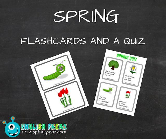 SPRING FLASHCARDS AND AQUIZ CZYLI WIOSENNE KARTY OBRAZKOWE IQUIZ (PRINTABLE)