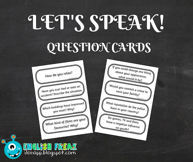 LET'S SPEAK – QUESTION CARDS  (PRINTABLE)