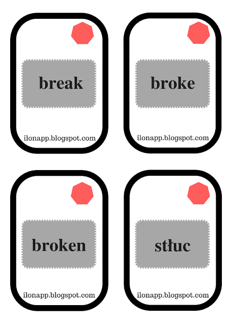 Irregular Verbs Snap game czasowniki nieregularne gra