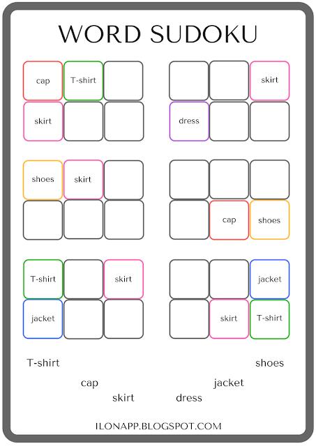 word sudoku słowne sudoku