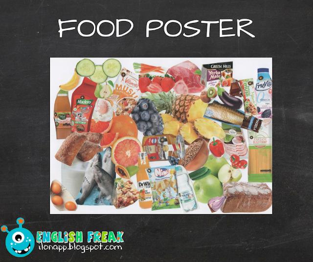 food poster kolaż jak wykorzystać plakat