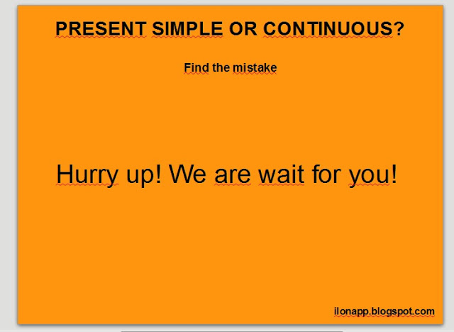 present simple or continuous slideshow