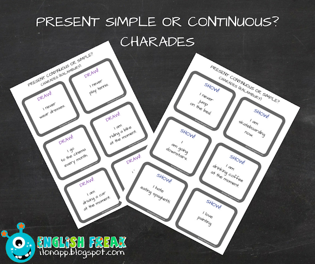 PRESENT SIMPLE OR CONTINUOUS? CHARADES