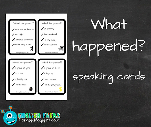 WHAT HAPPENED? – SPEAKING CARDS (PRINTABLE)