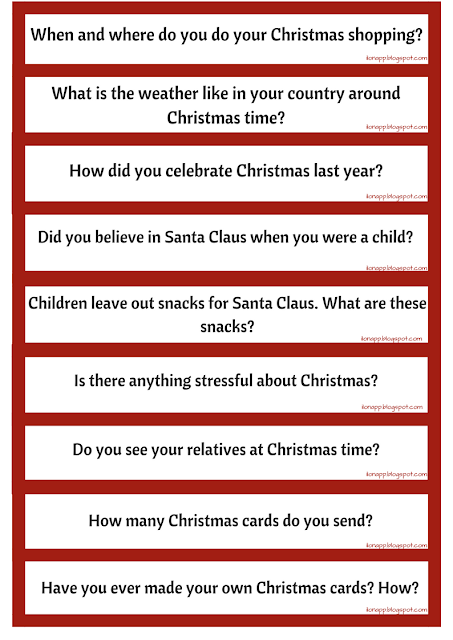 Christmas Questions - Christmas games in the classroom