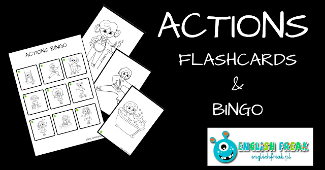 ACTIONS BINGO AND FLASHCARDS (PRINTABLES)