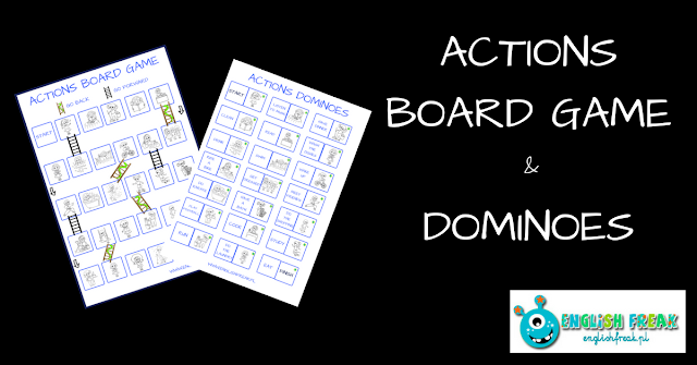 ACTIONS BOARD GAME AND DOMINOES (PRINTABLES)