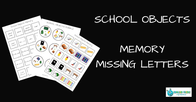 SCHOOL OBJECTS SPOTTING GAME AND MEMORY