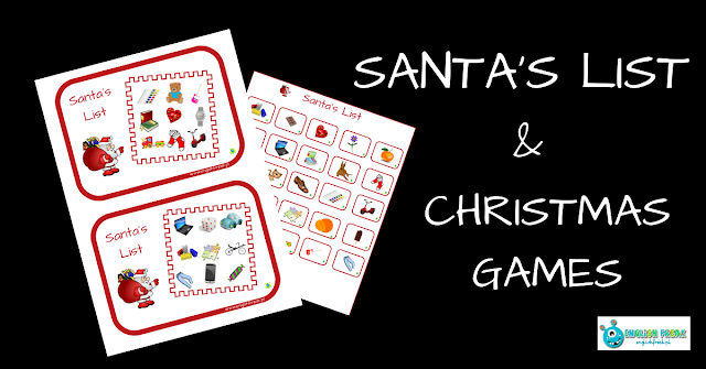 SANTA'S LIST AND CHRISTMAS GAMES (PRINTABLES)