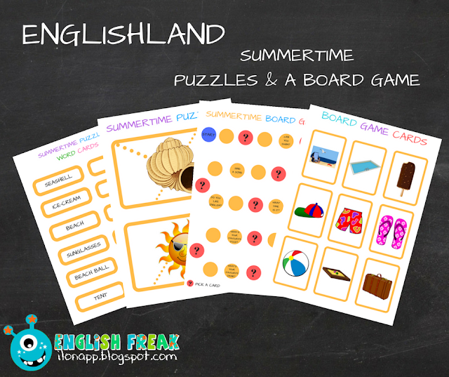 SUMMERTIME PUZZLES AND A BOARD GAME (PRINTABLE)