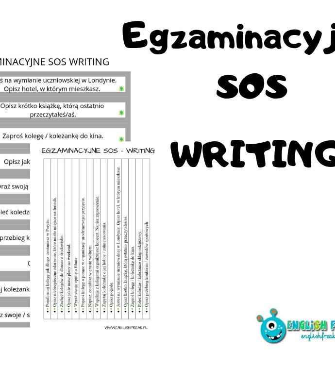 Egzaminacyjne SOS – writing