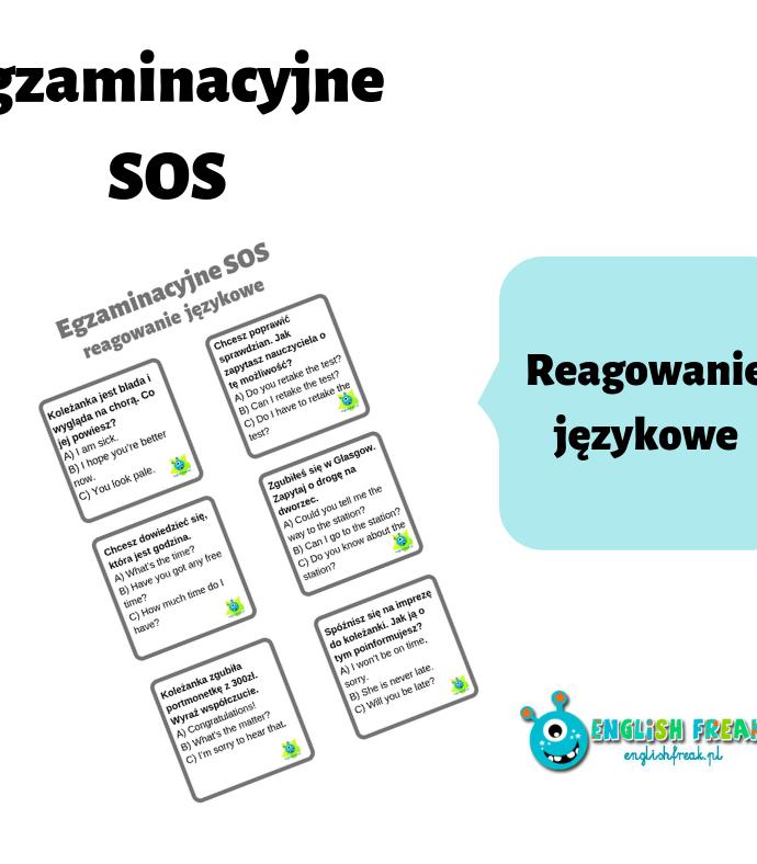 Egzaminacyjne SOS – reagowanie językowe