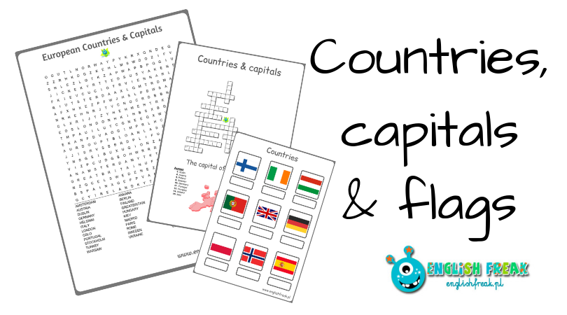 Countries, capitals and flags worksheets