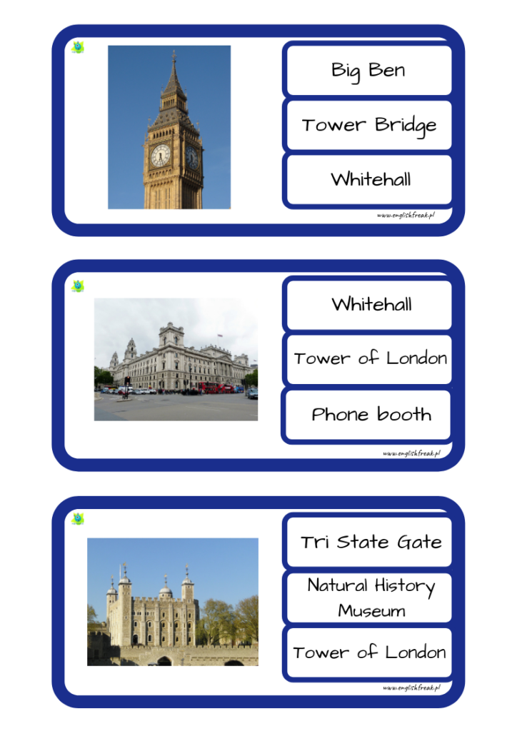 London Quiz Cards