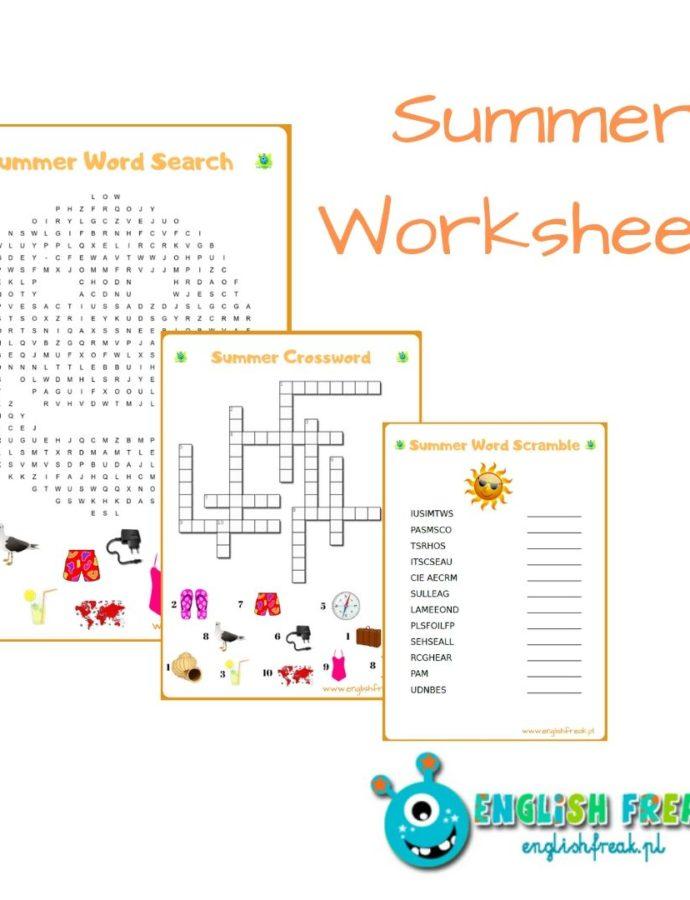 Summer worksheets, czyli wakacyjne karty pracy