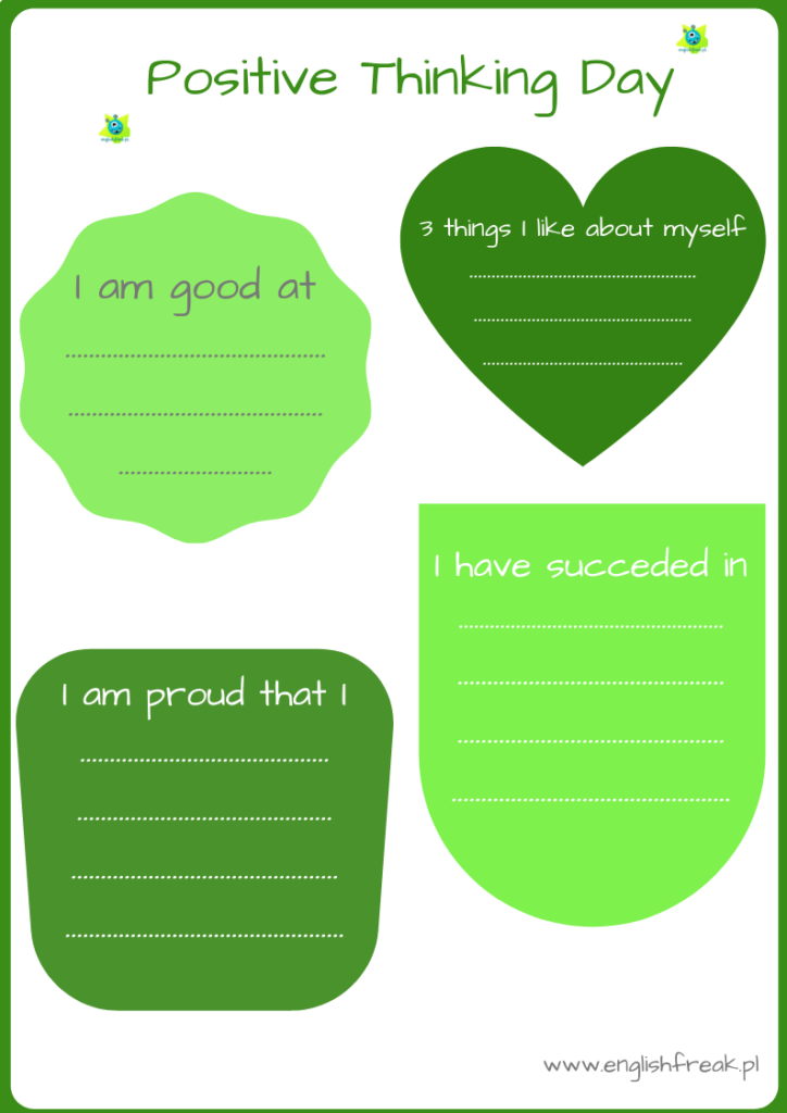 Positive Thinking Day worksheet