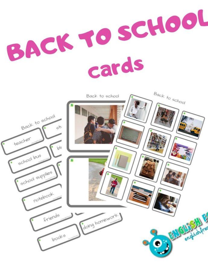 """""""Back toSchool Cards"""" napoczątek roku szkolnego"""