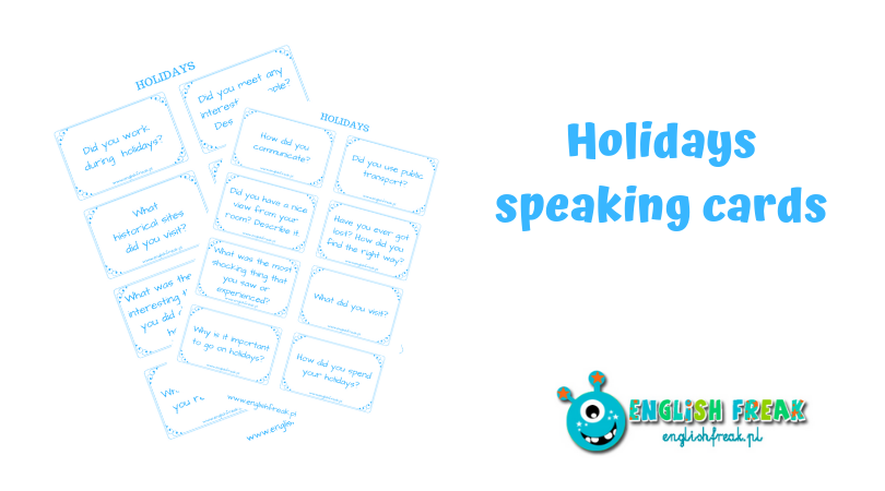 holidays speaking cards