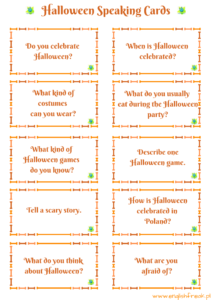 Halloween Speaking Cards
