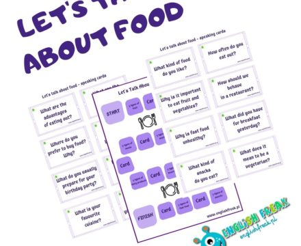 Food Speaking Cards – Let's talk about food