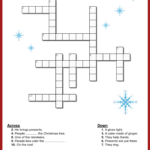 Christmas Crossword Christmas Word Search Christmas Scramble